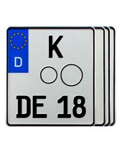 Motorradkennzeichen Standard