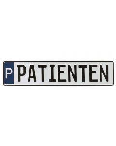 """Parkplatzschild """"PATIENTEN"""""""