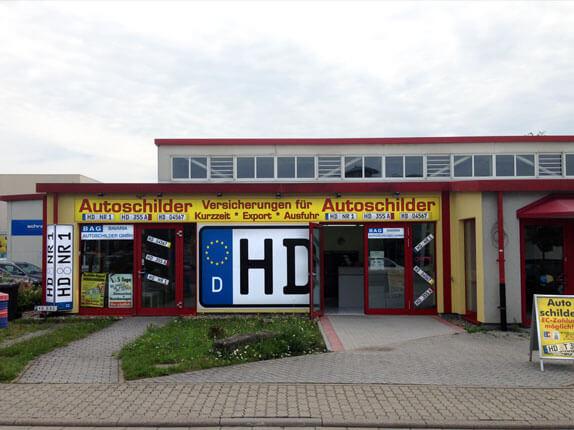 Schillderpartner für Autoschilder in Wiesloch