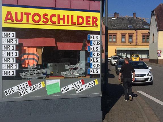 Schilderpartner für Autoschilder in Schönenberg-Kübelberg