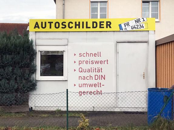 Schilderpartner für Autoschilder in Perleberg