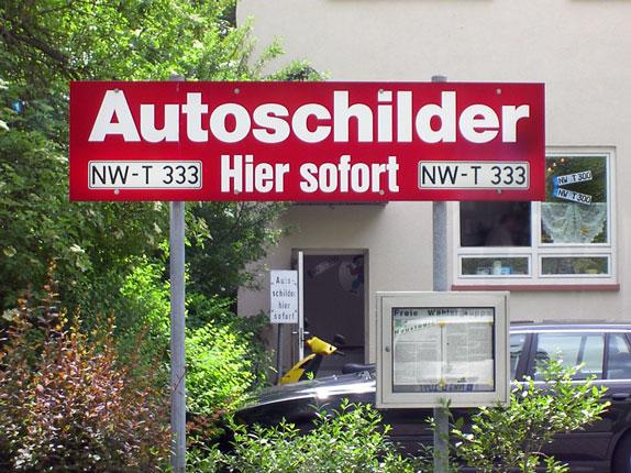 Schilderpartner für Autoschilder in Neustadt-Weinstraße