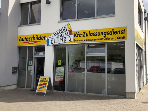 Schilderpartner für Autoschilder in Oldenburg