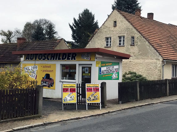 Schilderpartner für Autoschilder in Niesky