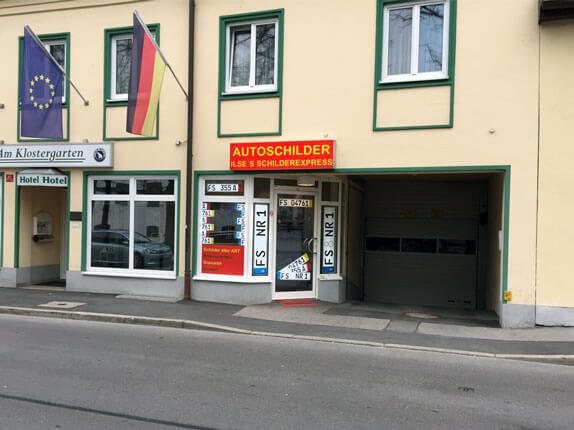Schilderpartner für Autoschilder in Freising