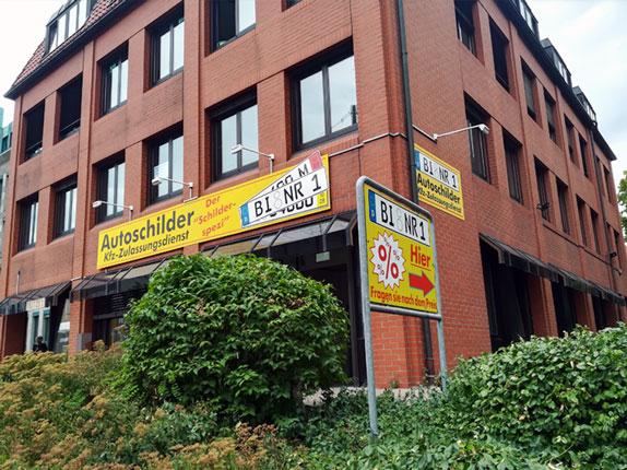 Schilderpartner für Autoschilder in Bielefeld