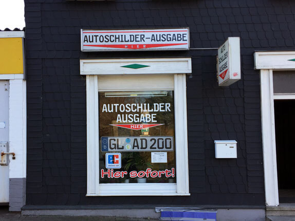 Schilderpartner für Autoschilder in Burscheid