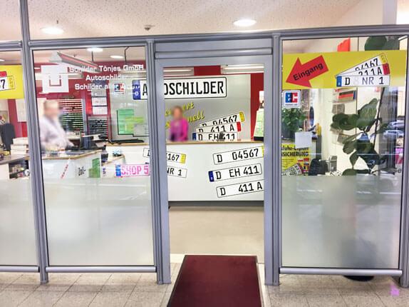 Schilderpartner für Autoschilder in Düsseldorf