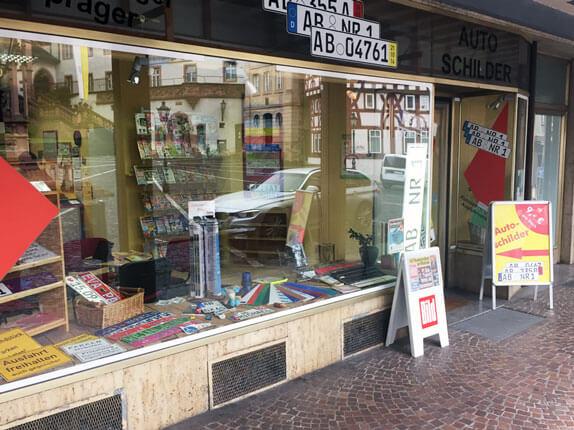 Schilderpartner für Autoschilder in Aschaffenburg