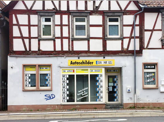 Schilderpartner für Autoschilder in Pfungstadt