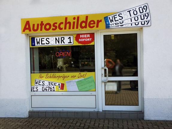 Schilderpartner für Autoschilder in Wesel