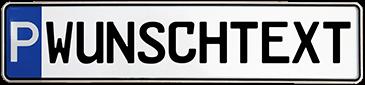 Parkplatzschild erstellen und online  kaufen