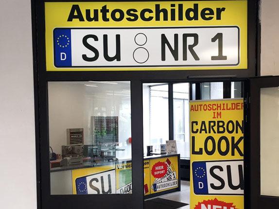 Schilderpartner für Autoschilder in Siegburg
