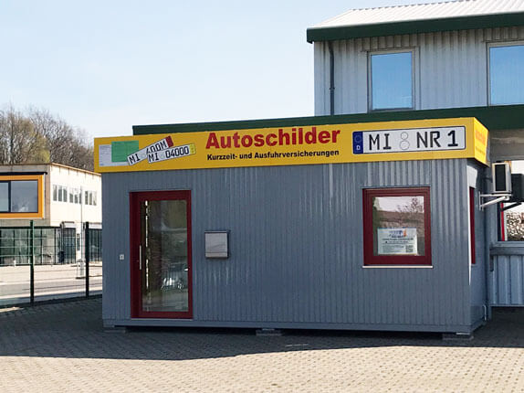 Schilderpartner für Autoschilder in Lübbecke