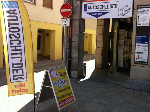 Schillderpartner für Autoschilder in Altdorf bei Nürnberg