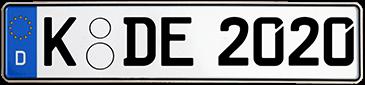 Autokennzeichen erstellen und kaufen