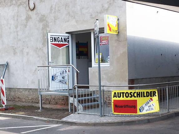 Schilderpartner für Autoschilder in Erfurt