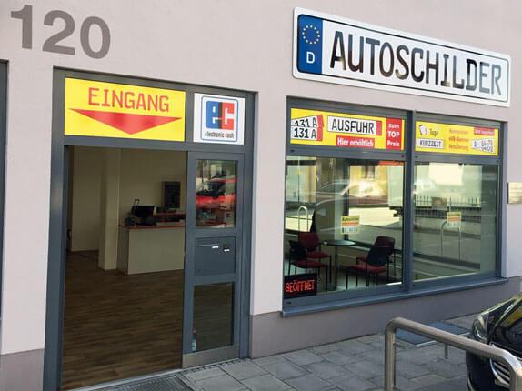 Schilderpartner für Autoschilder in Augsburg