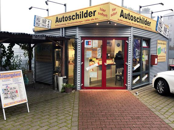 Schilderpartner für Autoschilder in Hanau