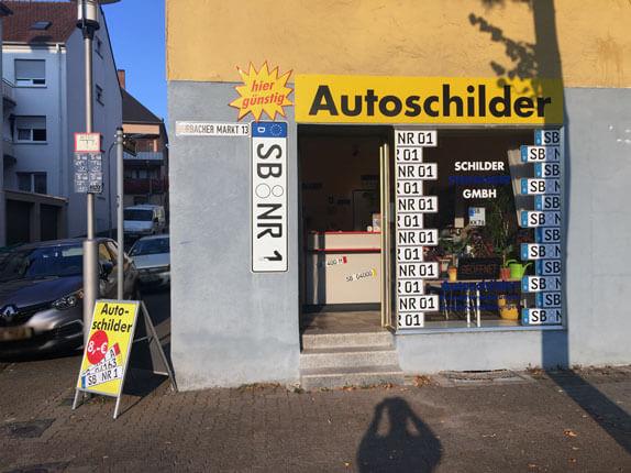 Schilderpartner für Autoschilder in Saarbrücken